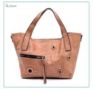 Handbags - NEW Fashion Zip Grommet Tote